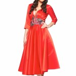 Rochie Artista Famous Embroidery Red
