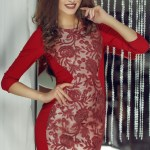 Rochie StarShinerS Theo Rose Masterpiece Burgundy