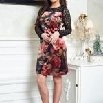 Rochie LaDonna Stylish Roses Black