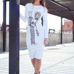 Rochie MissQ Egyptian Symbol White