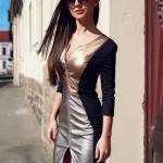 Rochie StarShinerS Kaleidoscop Enigmatic Black