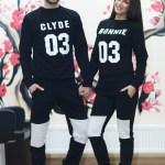 Set Bluze Bonnie and Klyde imprimate fata 108 Lei