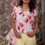 Bluza eleganta de vara cu imprimeu colorat