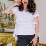 Bluza Ingrid Alba Din Bumbac