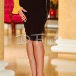 Fusta Black Elegant Lady