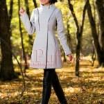 Palton dama gri cu fermoare argintii