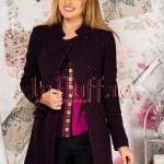 Palton dama mov pruna