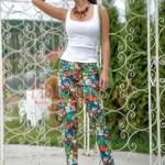 Pantaloni bumbac imprimeu cu bufnite