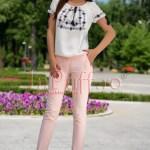 Pantaloni office roz