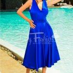 Rochie Anisia Albastru Regal din Tafta de Ocazie