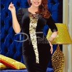Rochie Black Sequin Velvet