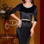 Rochie Black Velvet Pearls