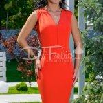Rochie Continue Midi Oranj De Zi