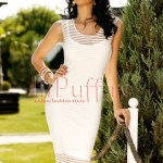 Rochie de vara transparenta cu dungi albe