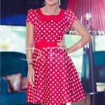 Rochie Desire Rosie Cu Buline Albe