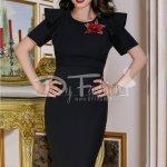 Rochie Elaine Neagra Midi Eleganta