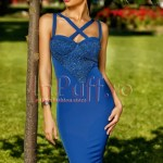 Rochie eleganta albastra trei sferturi