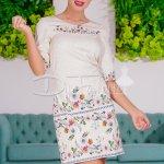 Rochie Gone Dreapta Cu Imprimeuri Florale