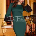 Rochie Green Lace Detailed