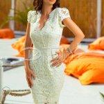 Rochie Irene Ivoar din Dantela Eleganta