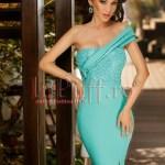 Rochie midi turquoise