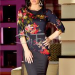 Rochie Together Kaki Flowers
