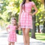 Rochii Mama Fiica – Set Special Roze 217 Lei