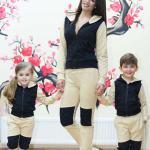 Set Treninguri Snow Beige Mama-Copil 301 Lei
