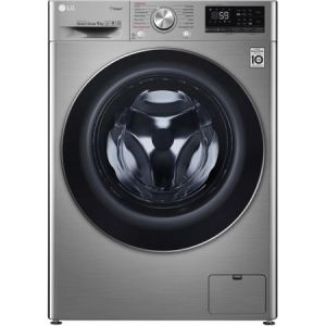Masina de spalat rufe LG F4WN609S2T, 9 kg, 1400 RPM, Clasa A+++, Direct Drive, Turbo Wash, Steam, Smart Diagnoisis, WiFi, Argintiu pret ieftin