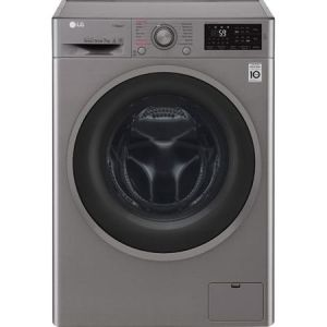 Masina de spalat rufe LG F2J6QY8S, 7 kg, 1200 RPM, Clasa A+++, Afisaj LED, Steam, Inverter Direct Drive, 6 Motion, Functii Smart, NFC, 60 cm, Argintiu pret ieftin