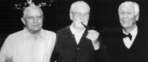 Wolfgang Vogel, Herbert Wehner och Carl Gustaf Svingel på äldre dar.