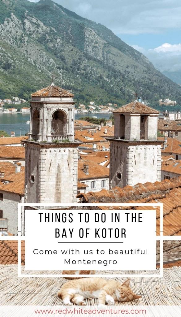 Pinterest pin of Kotor, Montenegro.