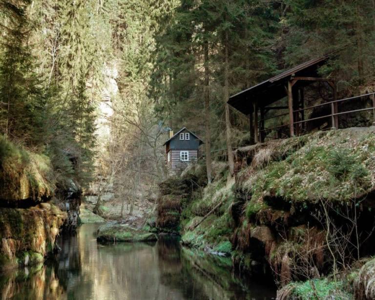 A photo taken from Bohemian Switzerland in the Czech Republic.