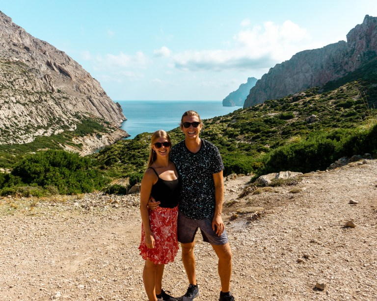 A picture of two bloggers in Spain.