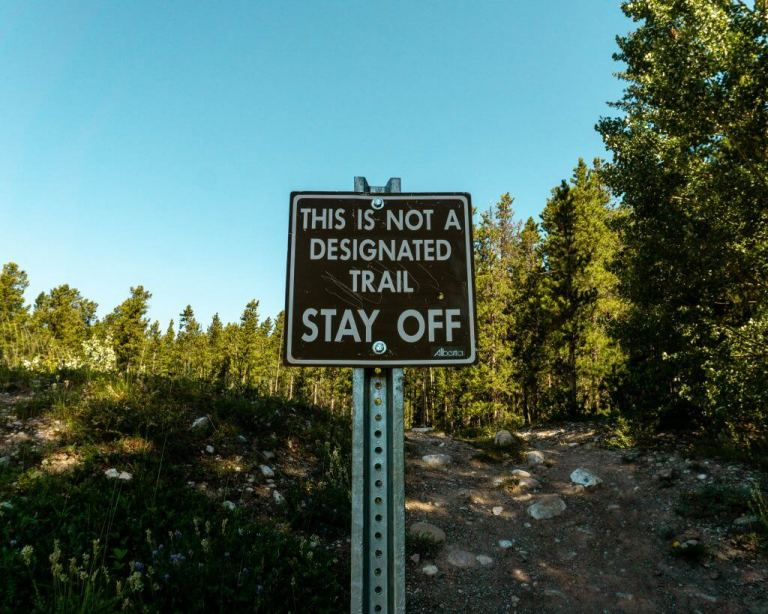 This is the trailhead for Vision Quest near Nordegg.