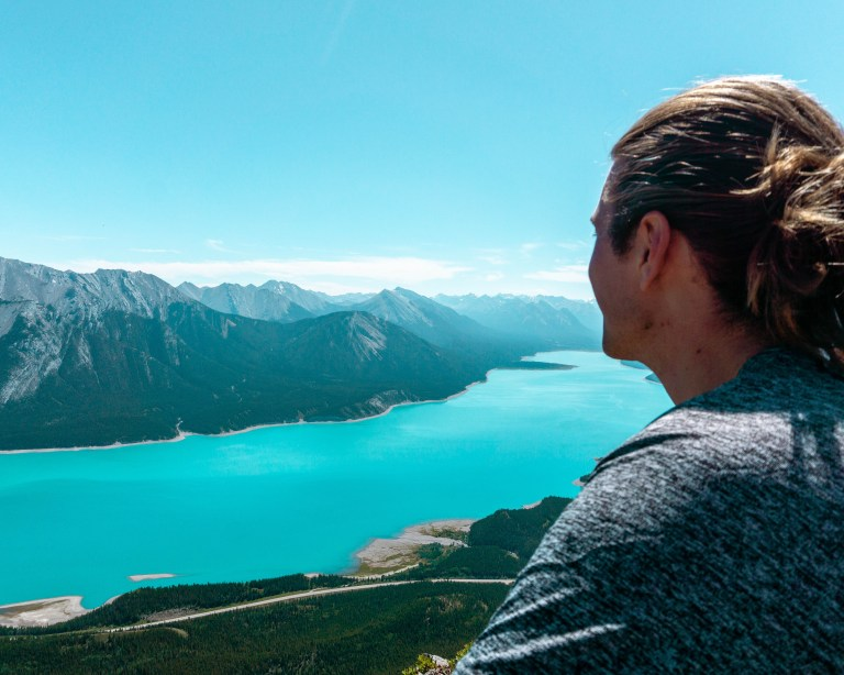 Dom admiring the views from the famous Vision Quest hike.
