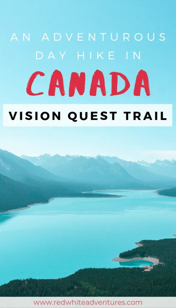 Pin for Pinterest of Vision Quest hike.