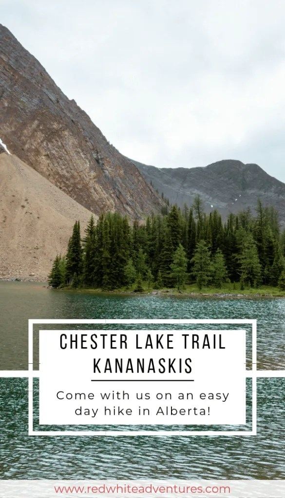 Pin for Pinterest of Chester Lake Trail.