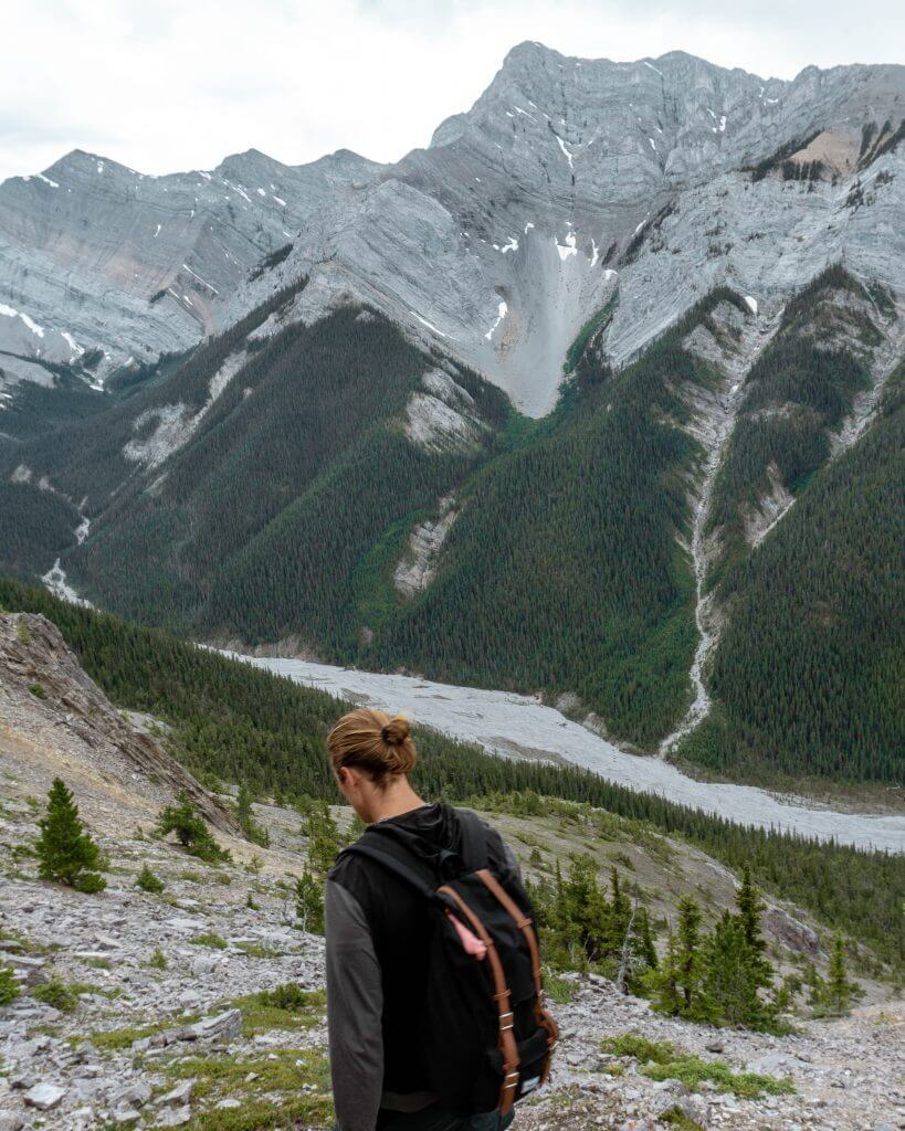 Dom hiking in Alberta.