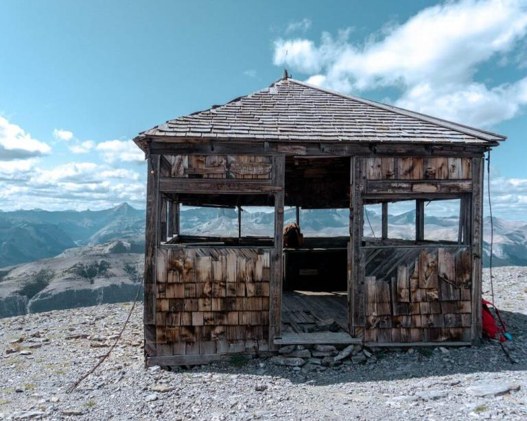 Black Rock Mountain hut near Calgary, Alberta.
