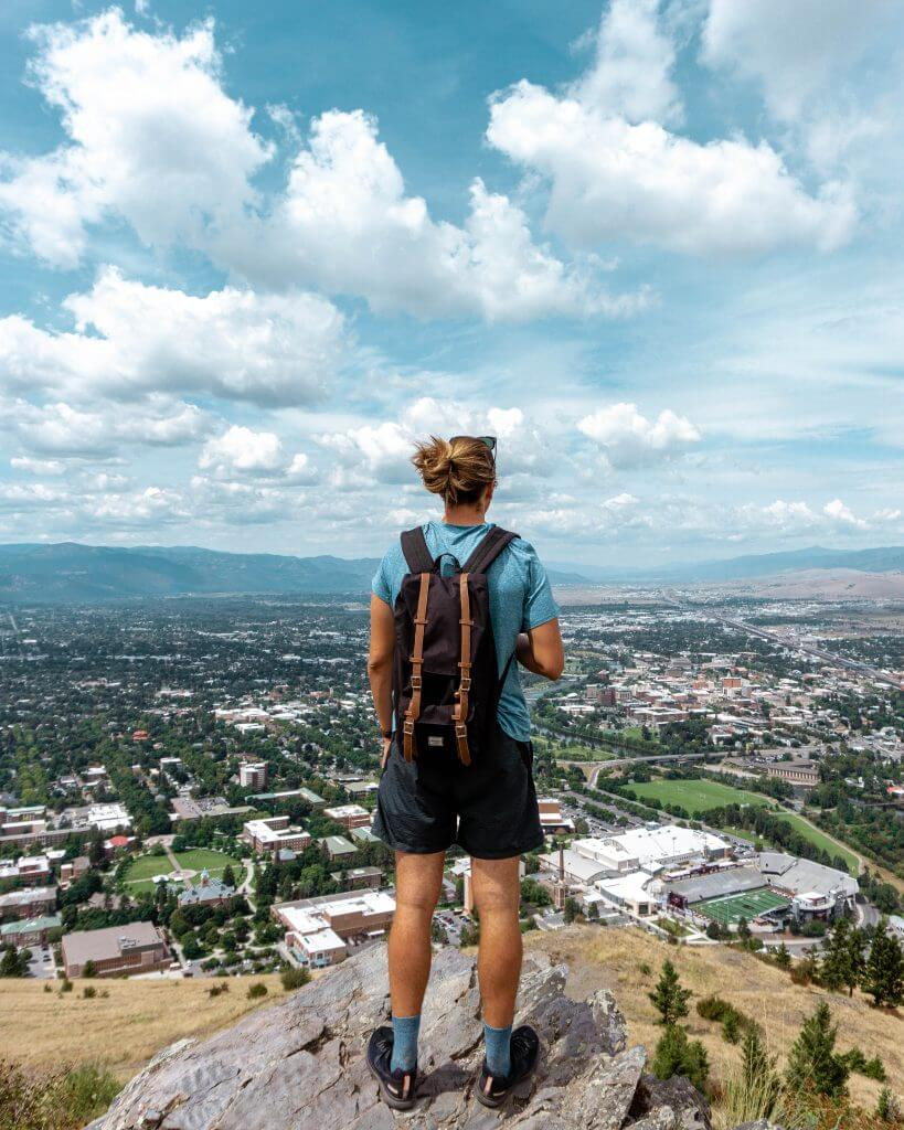 Views of Missoula while hiking.