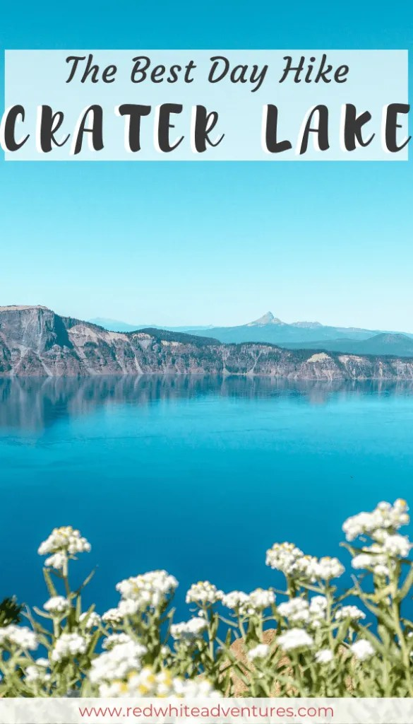 Pin for Pinterest of Crater Lake National Park.