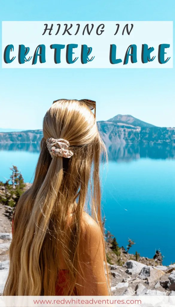 Pin for Pinterest of Crater Lake.
