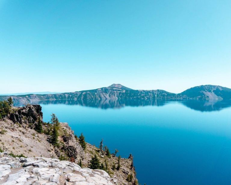 Views of Crater Lake from Garfield Peak.