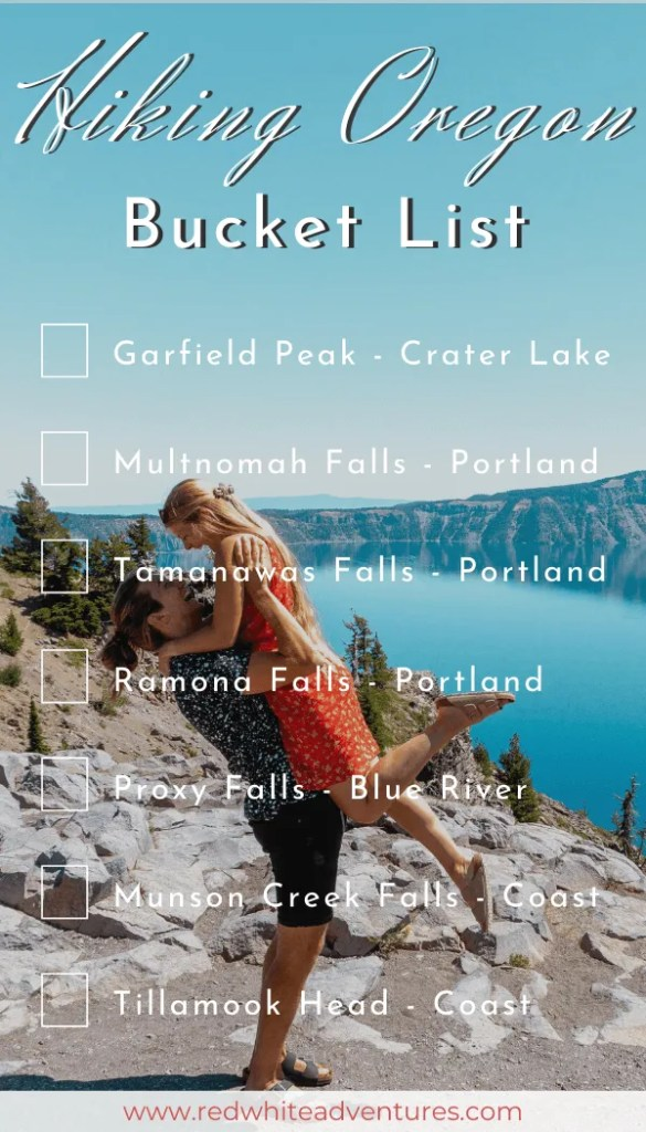 Oregon Hike Bucket List that can be used for Instagram Stories.