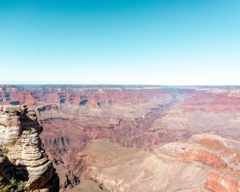 Views of the Grand Canyon.