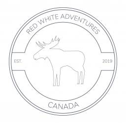 Red White Adventures logo.
