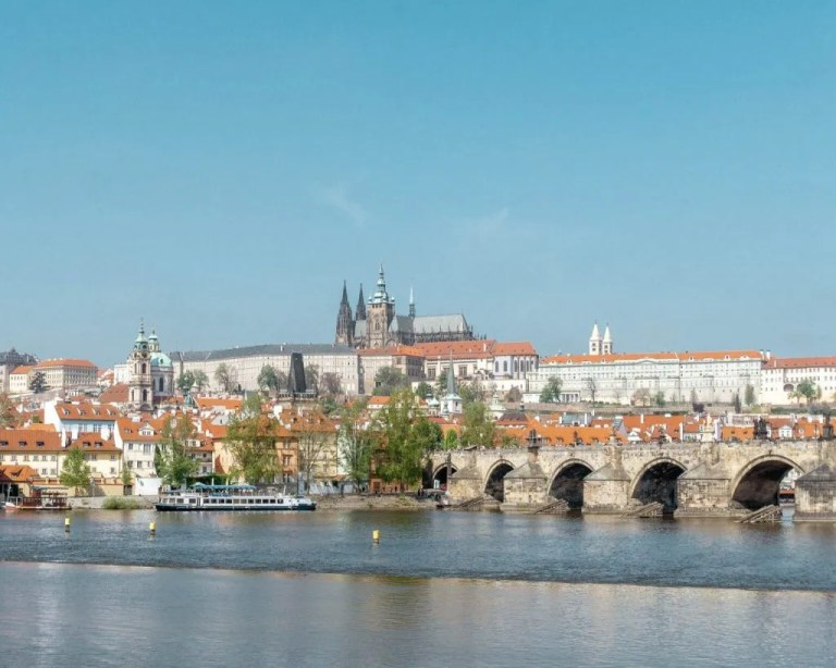 Views of Prague Castle in the Czech Republic.