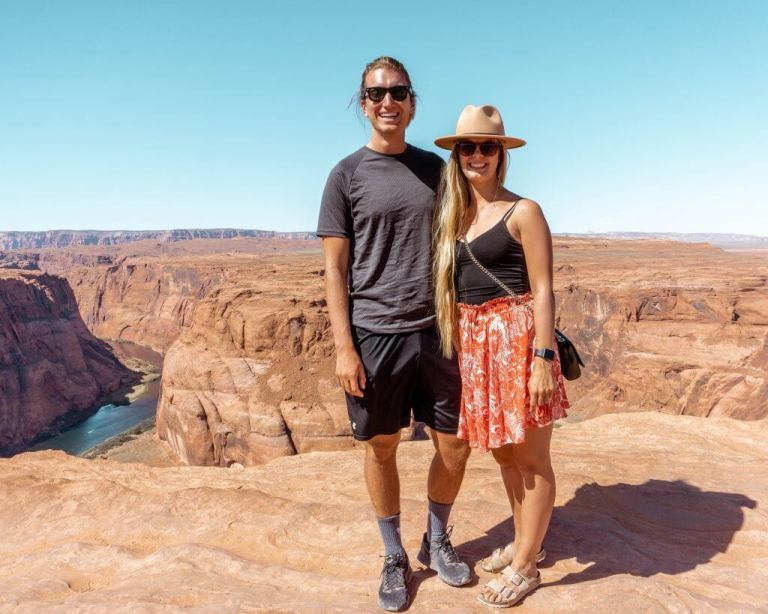Dom and Jo enjoying the Grand Canyon.