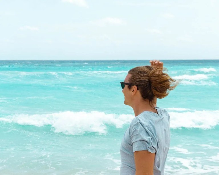 Enjoying the views of some of the best beaches in Cozumel.